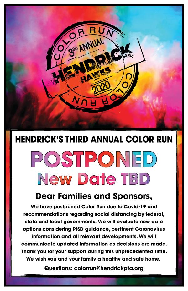 Color Run Poster - Postponed