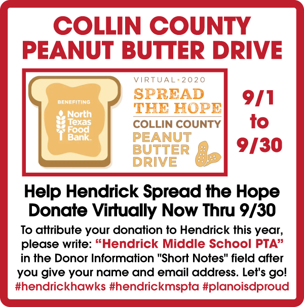 Collin County Peanut Butter Drive Information