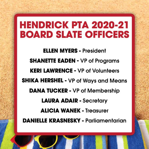 2020-2021 PTA Board Slate Officers Information