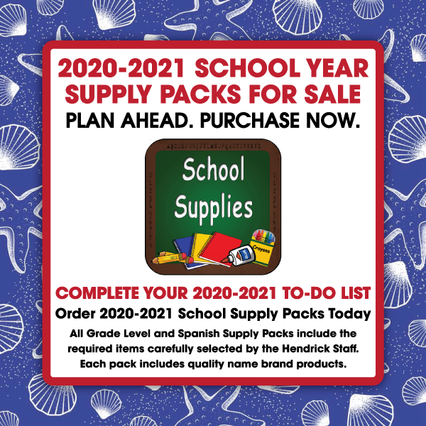 2020-2021 School Supply Packs For Sale Now Information