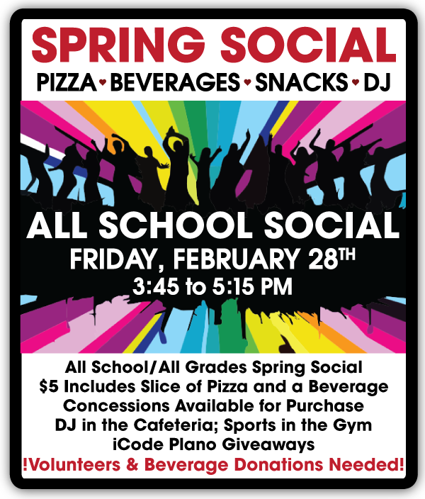 February 28, 2020 - Spring Social Save the Date