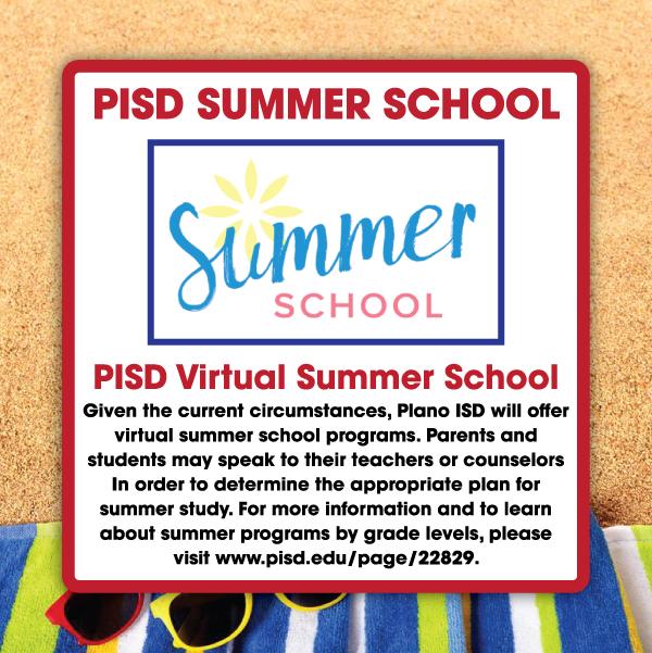 PISD Virtual Summer School information