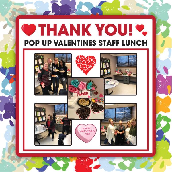 Pop Up Valentines Staff Luncheon