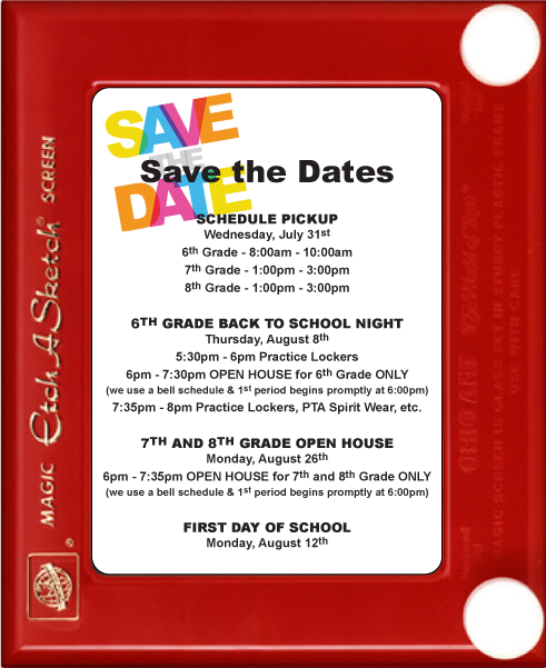 SAVE THE DATE Information
