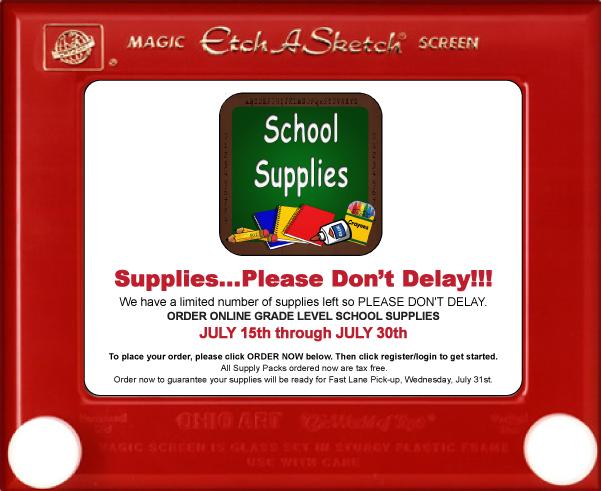 Order School Supplies Information