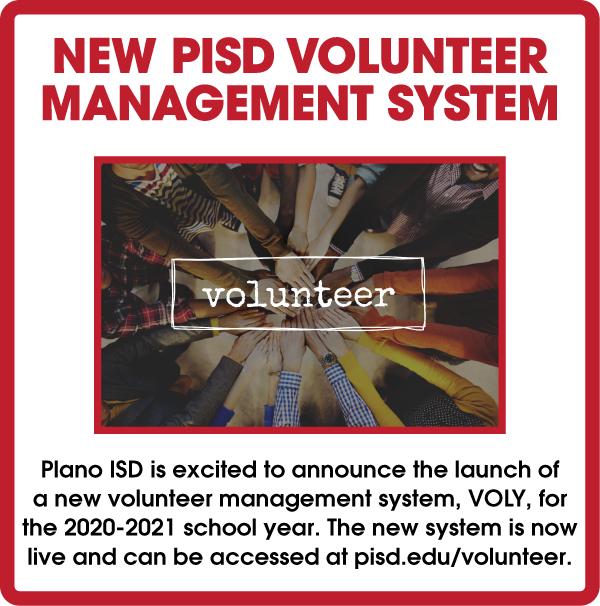 NEW 2020-2021 PISD Volunteer Management System